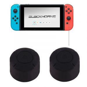 Nintendo Pour Switch Game Bouton Noir Silicone Caps Housse De Protection 2 Pcs