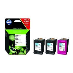 HP Cartouche d'encres noires et couleurs N°301