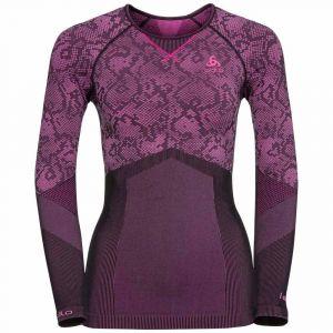 Odlo Blackcomb Evolution Warm Shirt L/s Crew Neck - Black / Pink Glo - Taille L