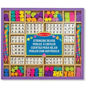 Melissa & Doug Perles en bois Alphabet 200 pièces