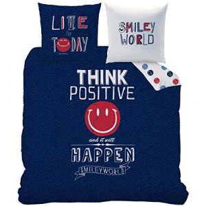 Cti Parure housse de couette Smiley World Positive (240 x 220 cm)