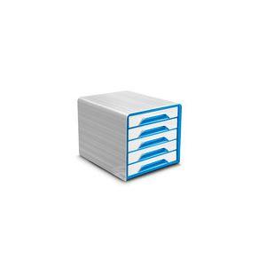 CEP Office Solutions Smoove Bloc de classement 5 tiroirs Blanc/Bleu Océan