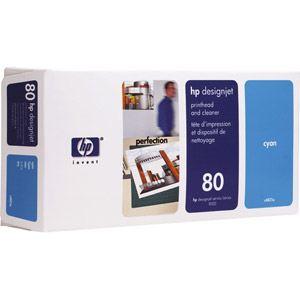 HP C4821A - Tête d'impression n°80 cyan avec nettoyeur