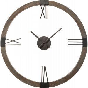 """Atmosphera Horloge Murale en Métal """"Gouna"""" 58cm Noir"""