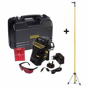 Stanley Kit Niveau laser Multiligne X3R 360° ROUGE+ Accesoires + Malette
