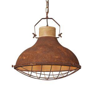 Brilliant AG Suspension LED E27 EEC: selon lampoule (A++ - E) 60 W Charo 93753/60 noir, marron rouille