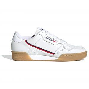 Adidas Continental 80, Basket Homme, Rose Crystal White/Collegiate Navy/Scarlet, 42 2/3 EU
