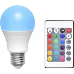 Basetech Ampoule LED E27 TRGB-6W-16 forme standard 6 W RVBB (Ø x L) 60 mm x 108 mm EEC: classe A à couleur changeante, à