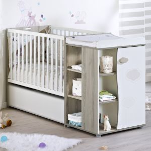 Sauthon Nael - Lit bébé transformable 60x120 en lit junior 90x190 cm ...