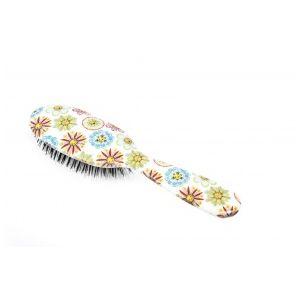Rock and Ruddle Flowers & Faces Grand Format - Brosse à cheveux en poils de sanglier