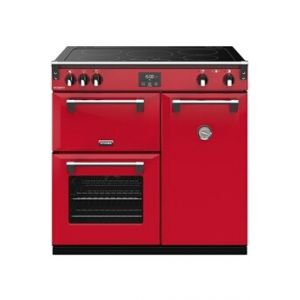 Stoves PRICHDX90EIJAL - Richmond  Deluxe 90 cm - Piano de cuisson induction rouge Jalapeno