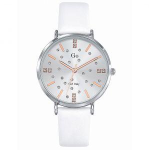 Go Girl Only Montre Go Girl Only 699933 - Boîtier Acier Argent Bracelet Cuir Blanc Femme