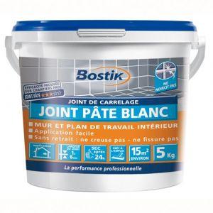 Bostik Joint carrellage pate blanche 5kg