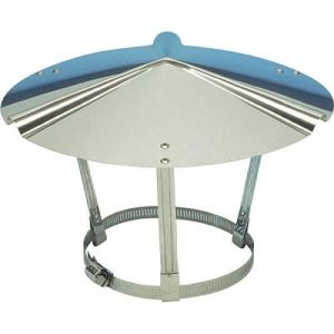 Ten 000003 - Chapeau inox chinois de toiture 153 à 180 mm