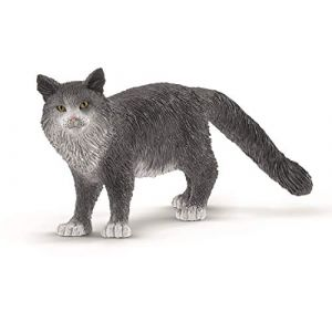 Schleich Farm World 13893 - Figurine Chat Maine Coon
