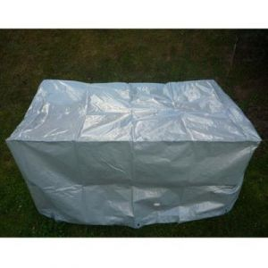 Chalet et Jardin B125*70 * 70-90-S Housse de Protection pour Barbecue de Jardin TITANIUM Argent 125 x 70 x 70 cm