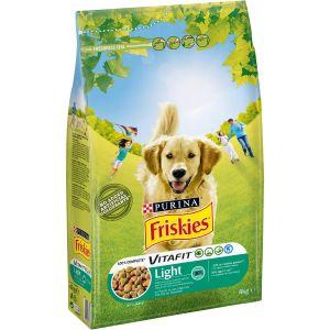 Friskies Croquettes Vitafit Light - Au poulet et légumes ajoutés - Pour chien adulte - 4 kg