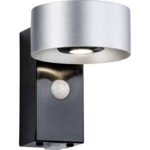 Paulmann Licht 796.78 Lampe de Mur de Maison, Aluminium, 8 W, Argent/Anthracite, 15,5 x 11 x 13,8 cm
