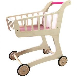 JB Bois Chariot de supermarché en bois