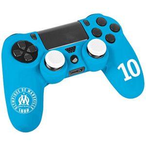 Housse de protection en silicone Olympique de Marseille n°10 pour manette Playstation 4