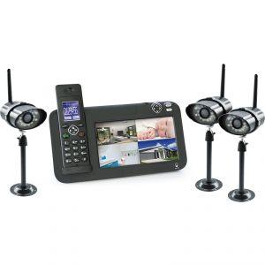 Scs sentinel 5874 - Kit vidéosurveillance 3 caméras + téléphone Dect