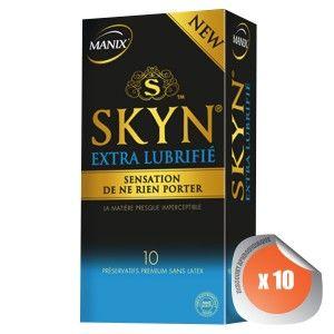 Manix Skyn Skyn Extra Lubrifié - Boîte de 10 préservatifs
