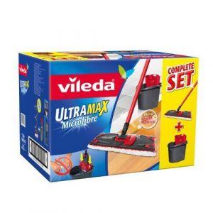 Vileda 137431 - Ultra Max Completo : Set Balai à Plat + Seau-Essoreur