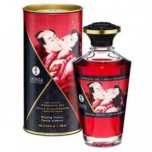 Shunga Erotic Art Huile Chauffante Aphrodisiaque Parfumée Cerise