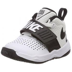 Nike Team Hustle D 8 (TD), Chaussons Mixte bébé, Blanc (White/Black 100), 19.5 EU