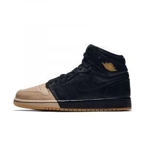 Nike Chaussure Air Jordan 1 Retro High Premium pour Femme - Noir - Taille 40 - Female