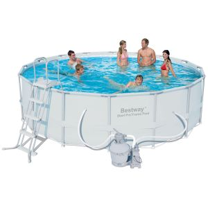 Bestway 56452 - Piscine tubulaire ronde Power 4.88 x 1.22 m