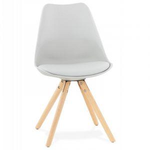 Kokoon Design Chaise robuste et légère au design scandinave TOLIK (GRIS)