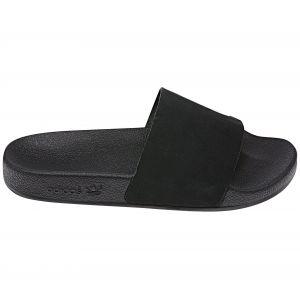 Adidas Adilette W, Chaussures de Plage & Piscine Femme, Noir Core Black/FTWR White, 40.5 EU