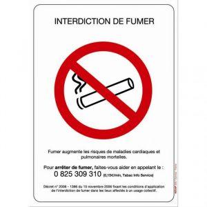 Novap Panneaux interdiction de fumer adhésif - 148 x 210 mm
