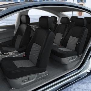 DBS 1011981 Housse de siège Auto / Voiture - Sur Mesure - Finition Haut de Gamme - Montage Rapide - Compatible Airbag - Isofix
