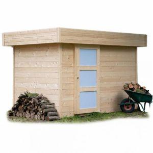 Solid S8216 - Abri de jardin Oslo en bois 28 mm avec toit plat 5,80 m2
