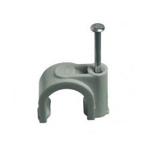 Debflex 700111 - Attache fils diamètre 10 mm couleur gris boîte de 25