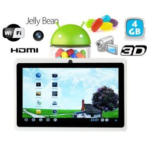 """Yonis Y-tt1g4 - Tablette tactile 7"""" HDMI sous Android 4.1 Jelly Bean (4 Go interne)"""