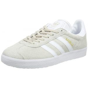 Adidas Gazelle, Baskets Basses Femme, Marron (Clear Brown/Footwear White/Gold Metallic), 38 EU