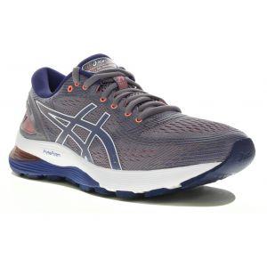 Asics Gel-Nimbus 21 W Chaussures running femme Gris/argent - Taille 39