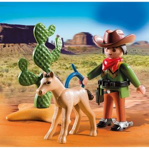 Playmobil 5373 Special Plus - Cow-boy avec poulain