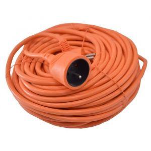 I-WATTS Rallonge 25m 3x1,5mm - Rallonge électrique 25m 3x1,5mm I-Watts - Câble HO5VV-F3G1.5 - Max déroulé 3680W - Max non déroulé 1200W - Approuvé NF - Protection enfants