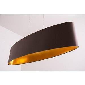 Eglo Carpi - suspension textile ovale, 100 cm de long