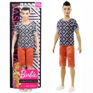 Mattel Ken fashionistas T-shirt Graphique - Poupée Mannequin - 3 ans et +