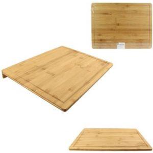 Cook Concept Planche à découper a decouper avec rebord bambou 33.5x