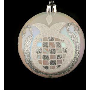 Atmosphera Boule de noël décorée - Perles - Argent