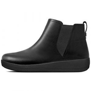 FitFlop Superchelsea Boot, Baskets Hautes Femme, Noir (Black 001), 37 EU