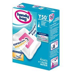Handy Bag Y50 - 4 sacs aspirateur en microfibres et 1 filtre sortie d'air