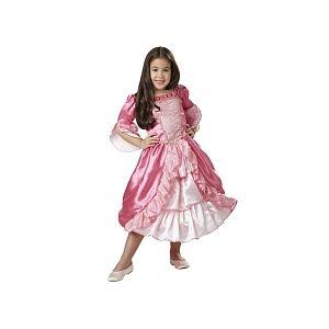 Déguisement princesse médiévale robe rose avec jupon à cerceau