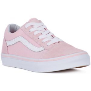 Vans Old Skool, Baskets Mixte Enfant, Rose (Suede/Canvas), 33 EU